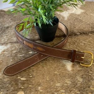 New Justin Hair-On Leather Western Belt 34